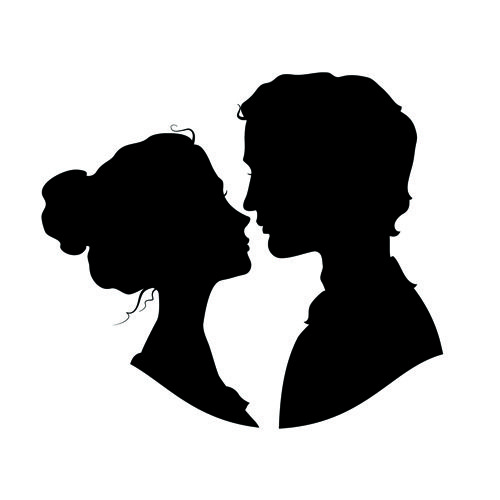 500x500 Creative Man And Woman Silhouettes Vector Set 07