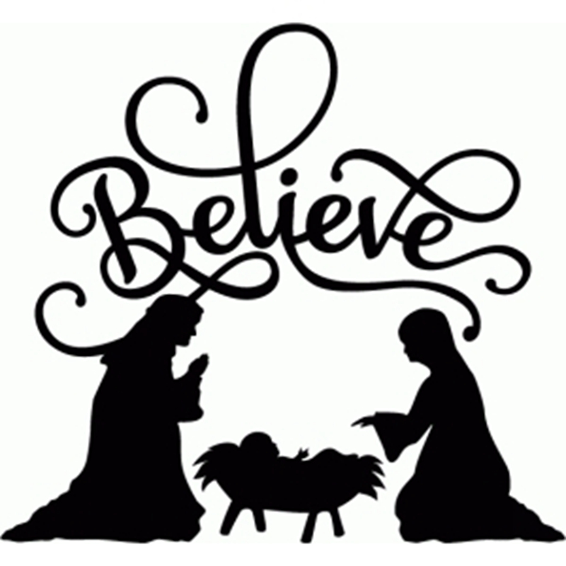 Silhouette Manger Scene at GetDrawings.com | Free for personal use ...