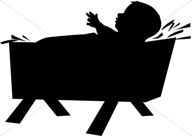 silhouette manger scene clipart at getdrawings com free for rh getdrawings com christmas manger clipart black and white black and white manger scene clipart