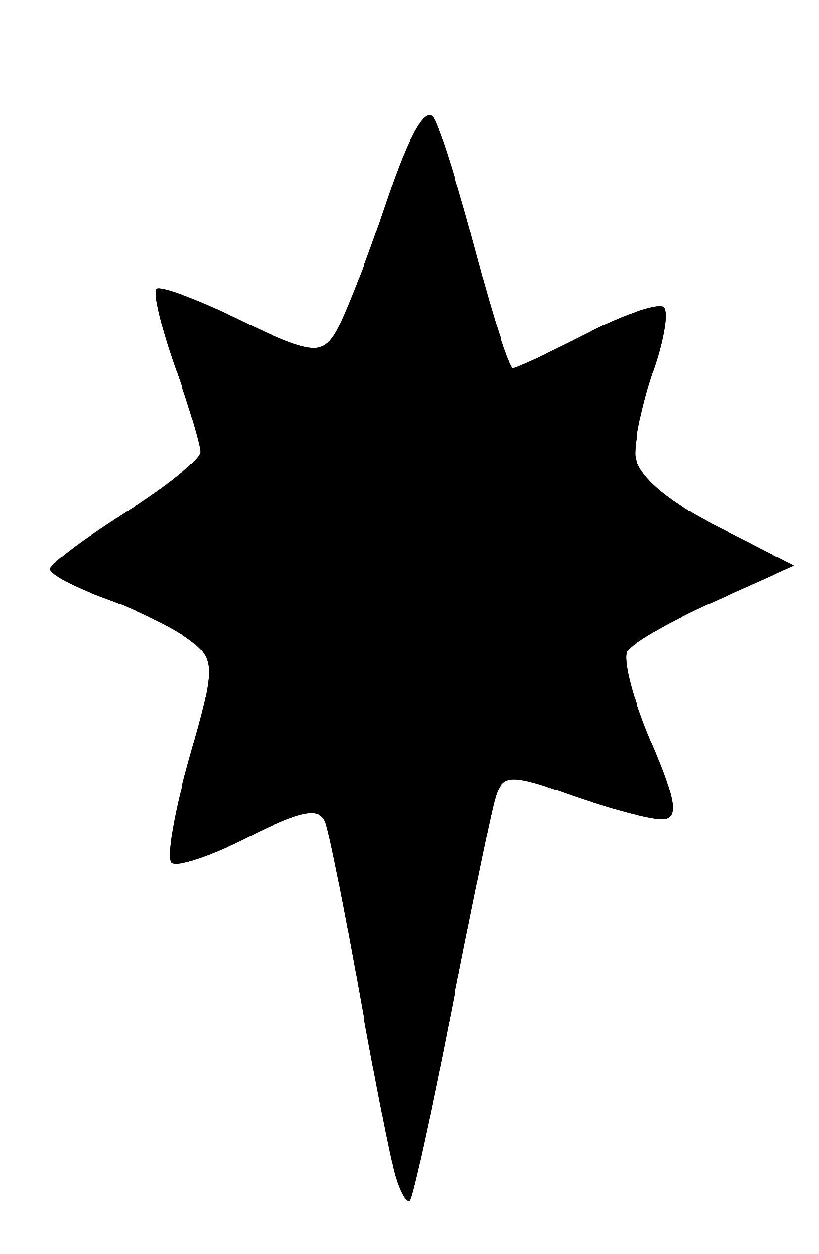 1656x2535 Christmas Star Silhouette Clip Art
