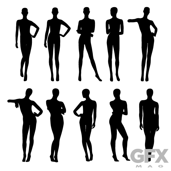 600x600 Free Vector Shop Mannequin Retail Silhouette Free Download