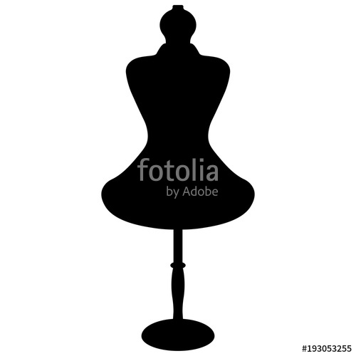 500x500 Female Mannequin Silhouette Stock Image And Royalty Free Vector