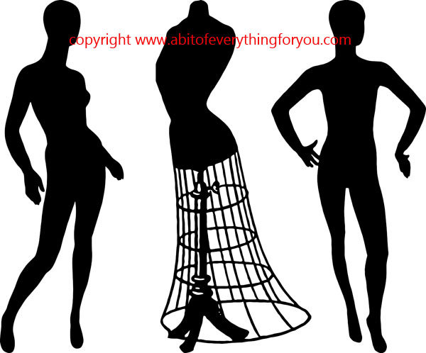 600x498 Mannequin People Wire Dress Form Printable Art Clipart Png