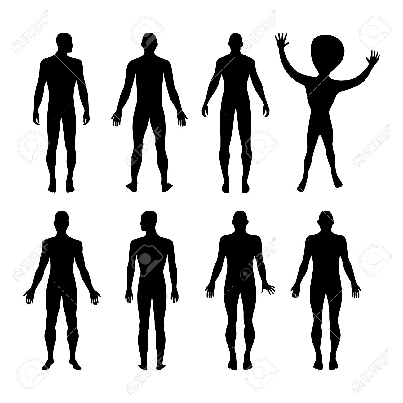 1300x1300 Clipart Male Silhouette Front Collection