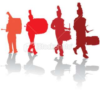 320x299 Marching Band Silhouette Clipart
