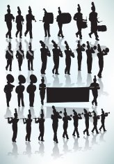 164x235 Parade Marching Band Musicians Premium Clipart