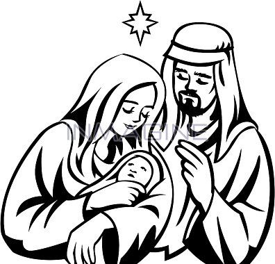 396x380 Mary And Joseph In The Stable Graphic Clipart