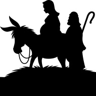 190x189 Mary And Joseph On A Donkey Silhouette Bigking Keywords And Pictures