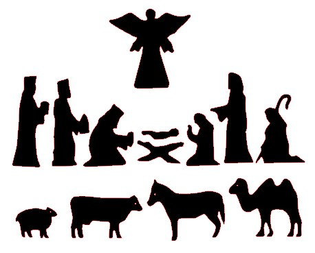 458x369 Nativity Silhouette Clip Art Many Interesting Cliparts