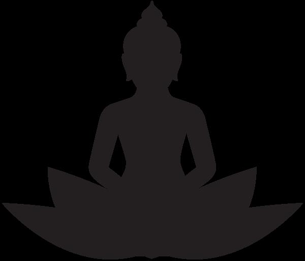 600x512 Meditating Buddha Silhouette Png Clip Art Silhouette