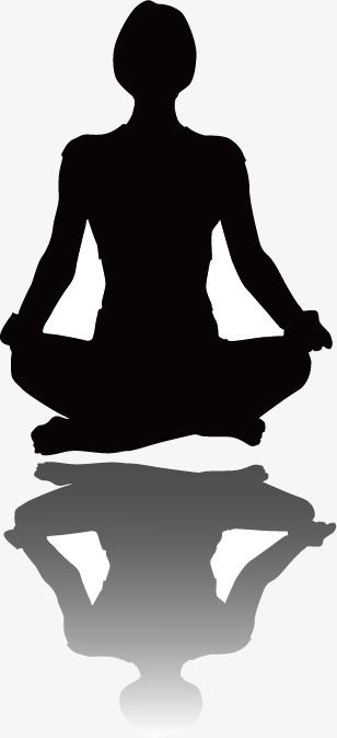 308x673 Meditating Silhouette Figures, Meditate, Yoga, Meditation Png