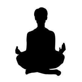 270x270 Meditation Silhouette 01 Stencil Free Stencil Gallery