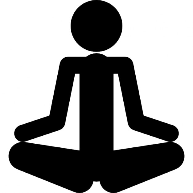 626x626 Person Silhouette In Meditation Posture In Spa Icons Free Download