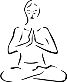 221x270 Meditating Silhouette Gray