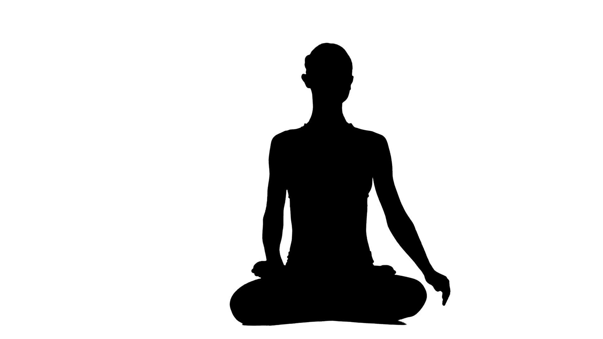 1920x1080 Healthy Woman Making Meditation On The White Backround. White