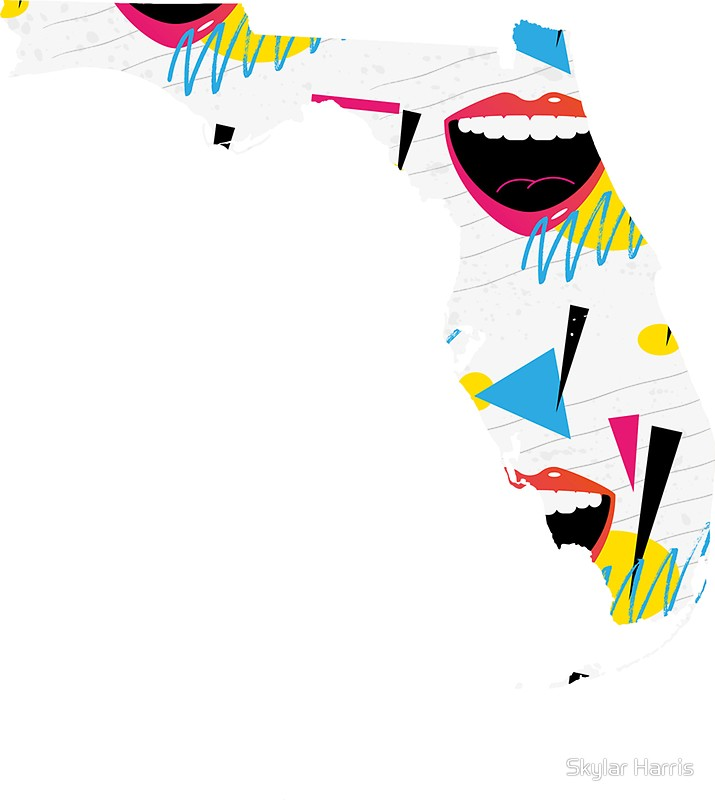 715x800 Florida Silhouette Pattern Stickers By Skylar Harris Redbubble