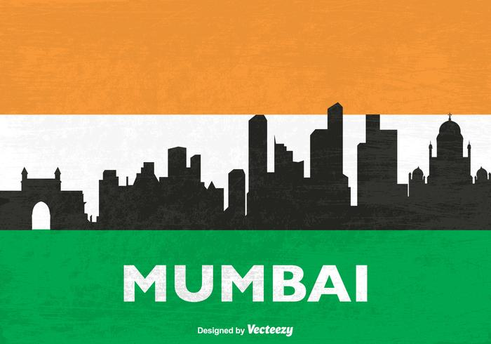 700x490 Free Skyline Mumbai Vector Silhouette