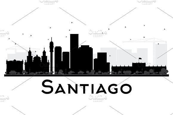 580x386 Santiago City Skyline Silhouette Skyline Silhouette And City