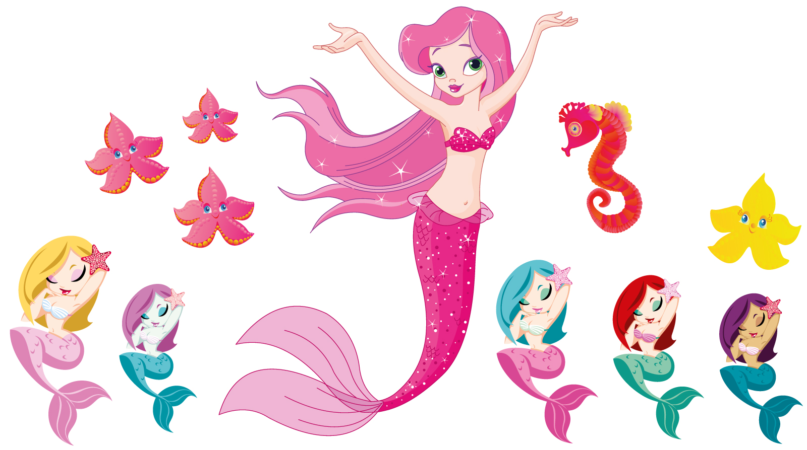 1600x894 Colors Little Mermaid Quotes Wall Decals In Conjunction