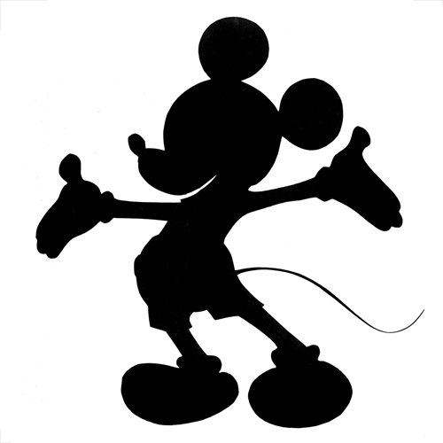 Silhouette Mickey Mouse