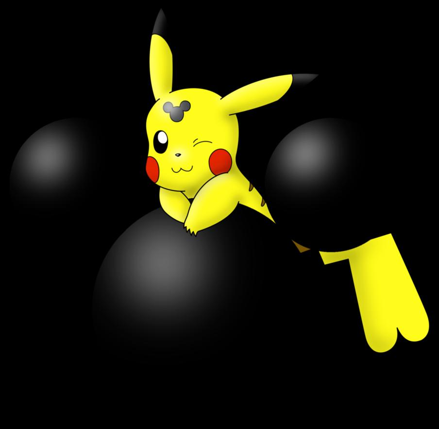 904x883 Mmhm Pikachu Mickey Mouse's Head Silhouette By Wanda92