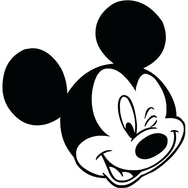 600x600 Mickey Mouse Outline Downloadable Printable Mickey Profile
