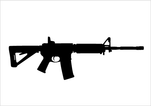 501x352 Assault Rifle Clipart Gun Silhouette