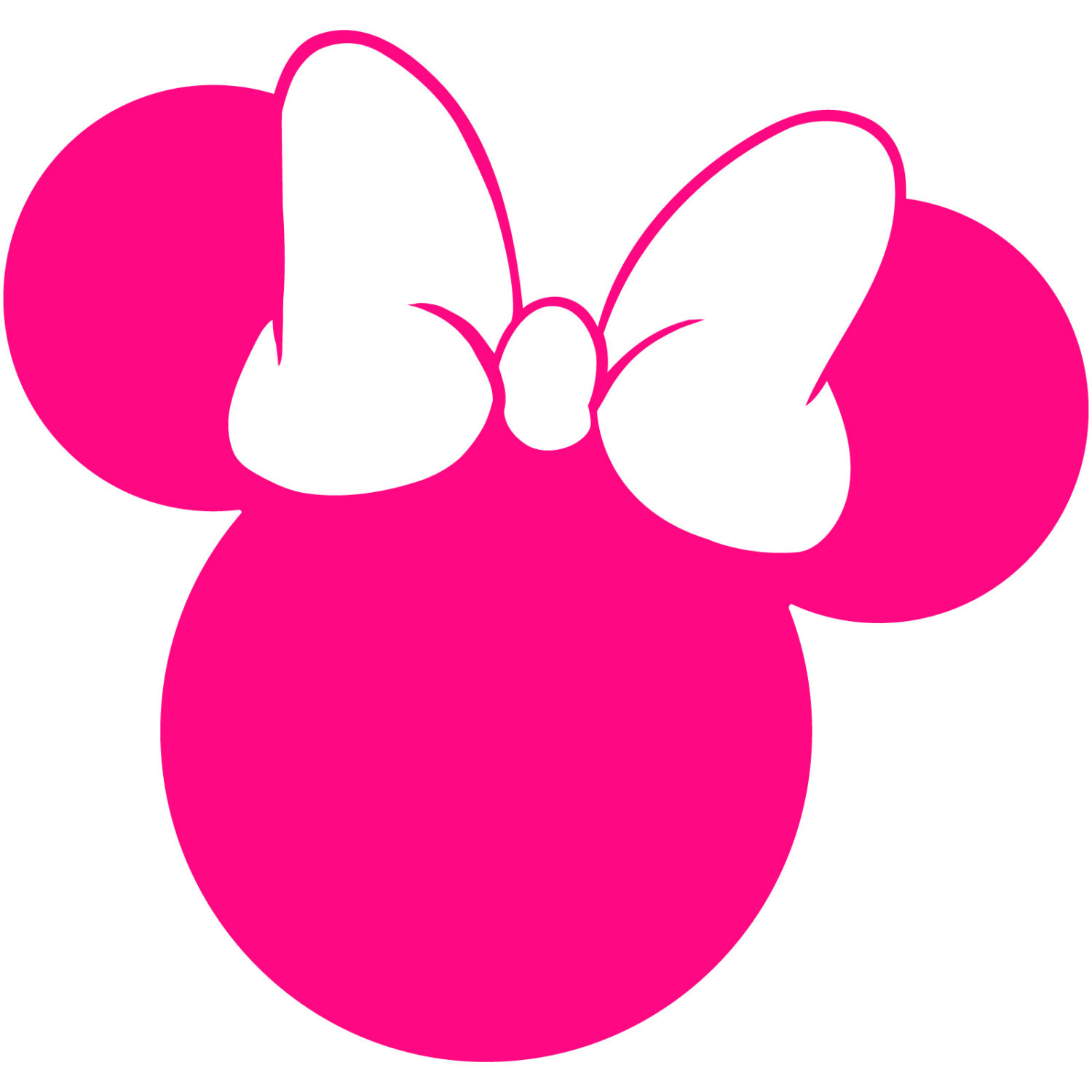 1500x1500 Minnie Mouse Head Silhouette Walt Disney Disneyland World