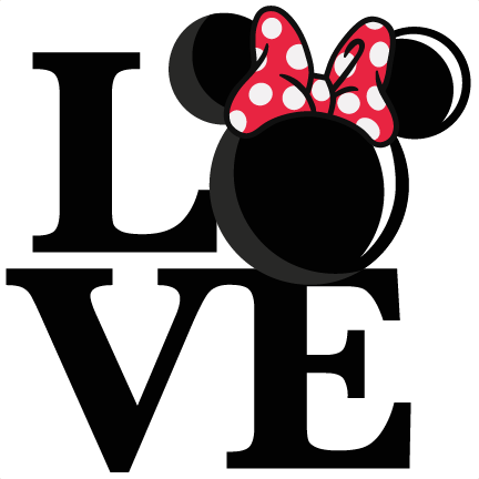 432x432 Love Mouse Girl Title Svg Scrapbook Cut File Cute Clipart Files