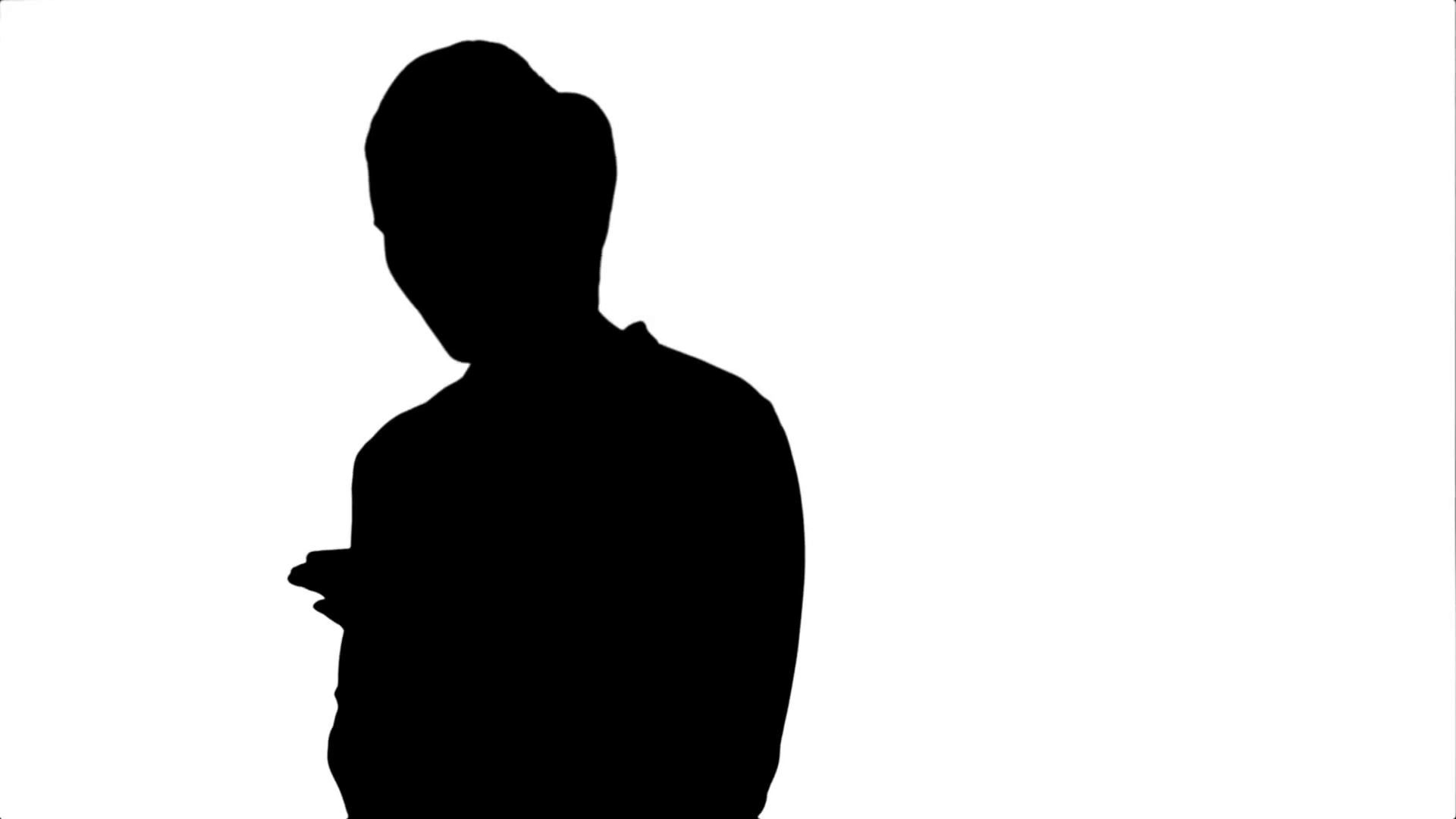 1920x1080 Silhouette Pensive Business Woman Using Mobile Cell Phone Reading