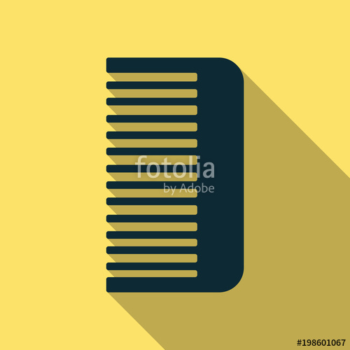 500x500 Comb Icon. Icon Isolated On Background. Comb Silhouette. Simple