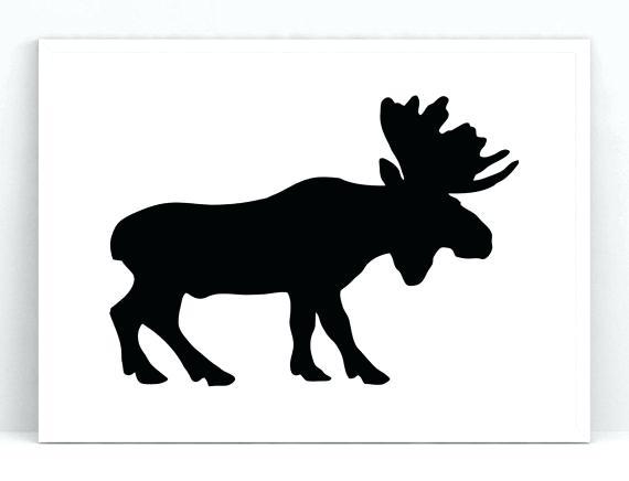 570x436 Moose Silhouette Moose Silhouette Pattern