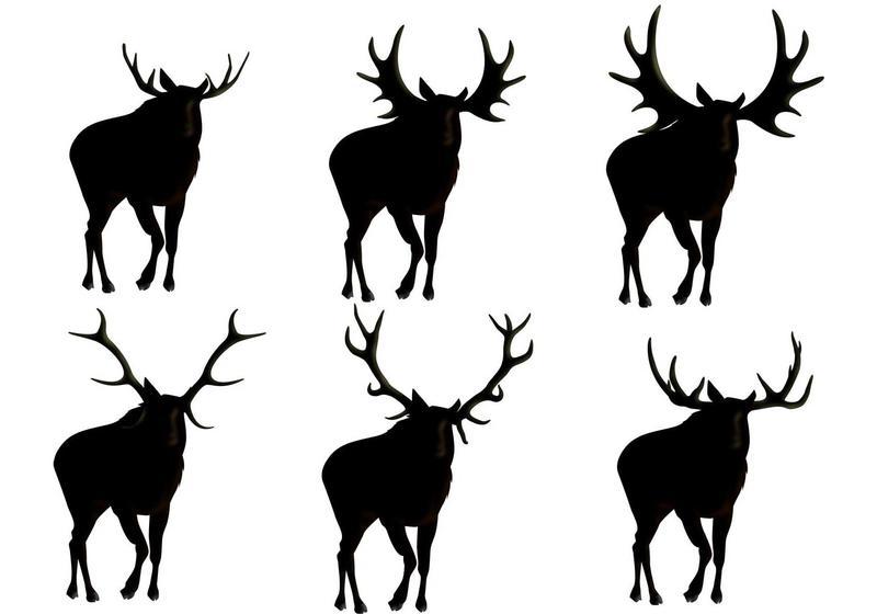 800x560 Moose Silhouette Vectors