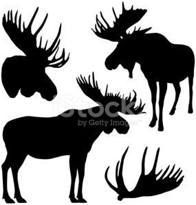 285x299 Moose Silhouettes Premium Clipart