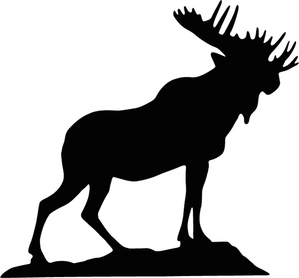 600x559 Moose Graphics Free Vector Download (58 Free Vector)