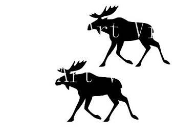 340x270 Moose Silhouette Etsy