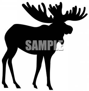 293x300 Free Clipart Image Black And White Silhouette Of A Moose