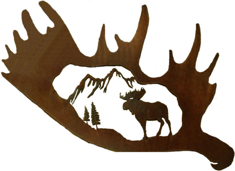 822x600 Free Moose Clipart Image