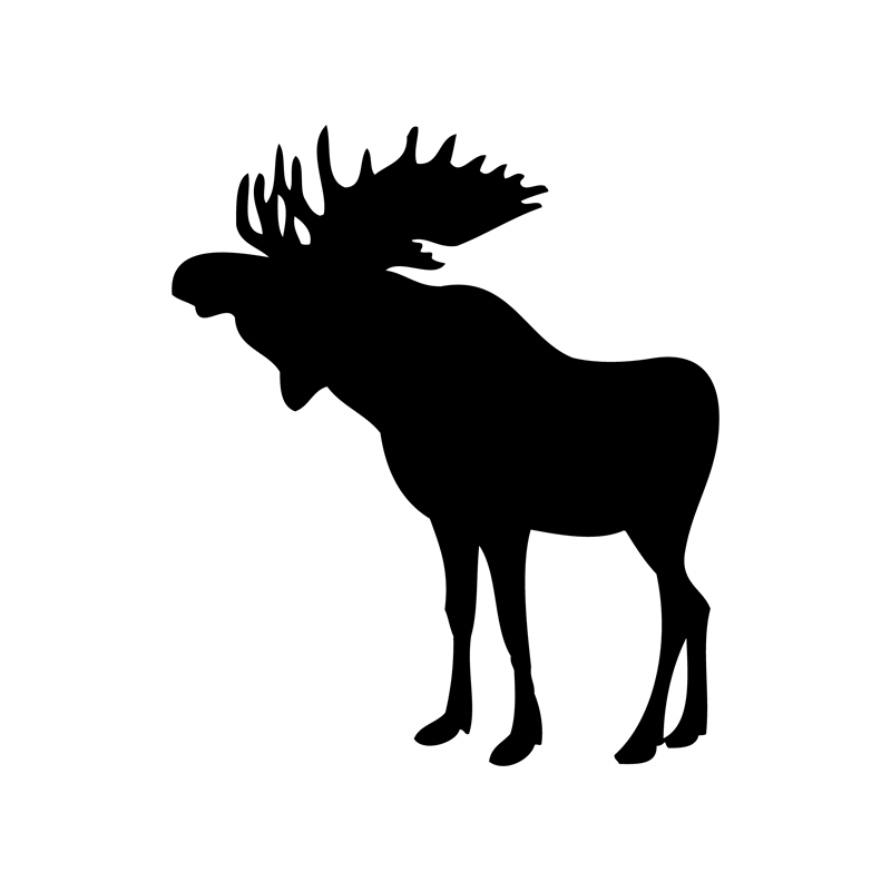 800x800 Free Shipping Moose Silhouette Vinyl Wall Decals ,moose Art Decor
