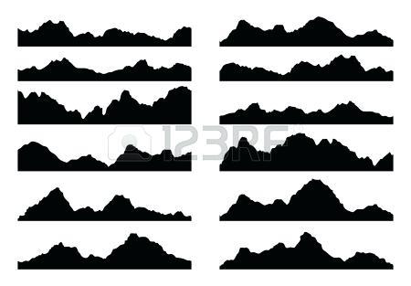 450x313 Mountain Silhouette Mountains Mountain Silhouette Vector Free