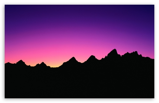 510x330 Mountain Silhouette ❤ 4K HD Desktop Wallpaper for 4K Ultra HD TV