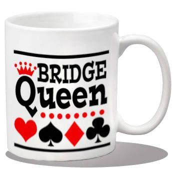 350x350 Ceramic Bridge Player Mug, Ceramic Coffee Mug, Bridge Gift Items
