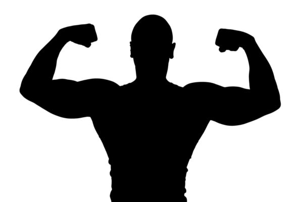 600x400 Silhouette Of A Man Flexing Biceps.