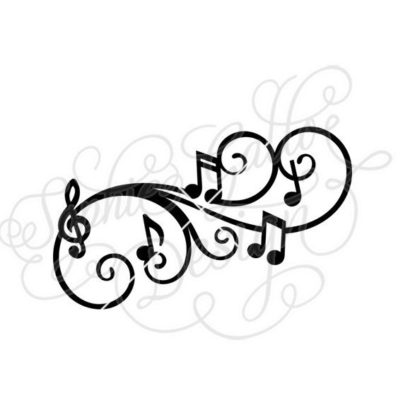 Silhouette Music Notes