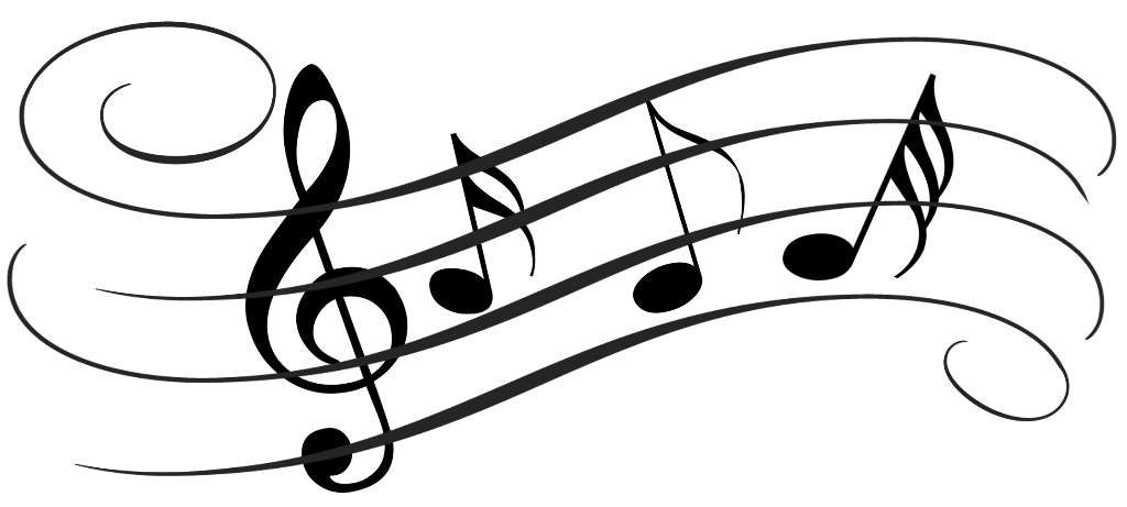 1024x461 Music Notes Clipart Silhouette 3731876