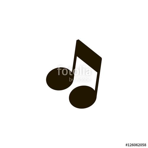 500x500 Musical Note Icon Vector, Clip Art. Also Useful As Logo, Web Ui