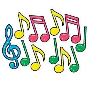 300x300 Neon Musical Notes Silhouette Cutouts (12 Pack) 34689113157 Ebay