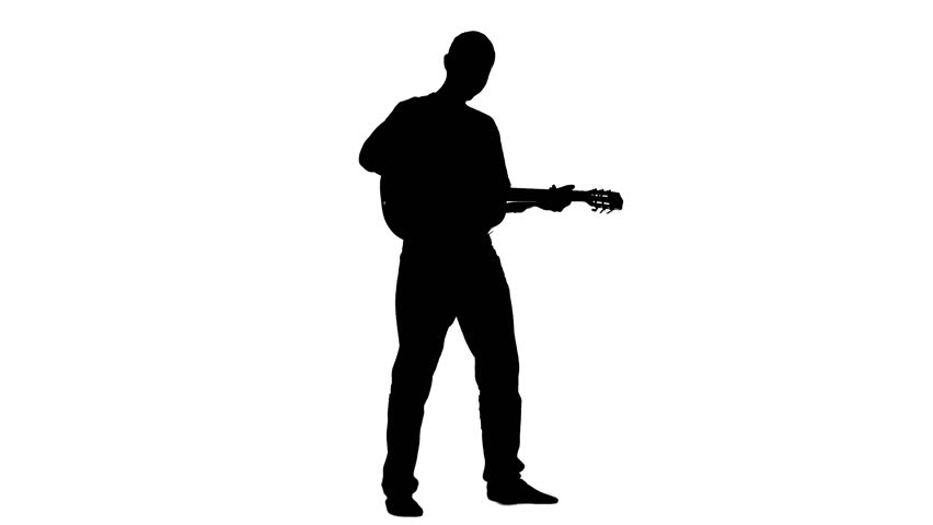 852x480 Silhoutted Man Playing The Violin With Colorful Music Notes