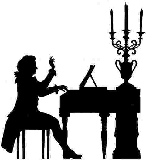 481x527 Piano Player Clipart