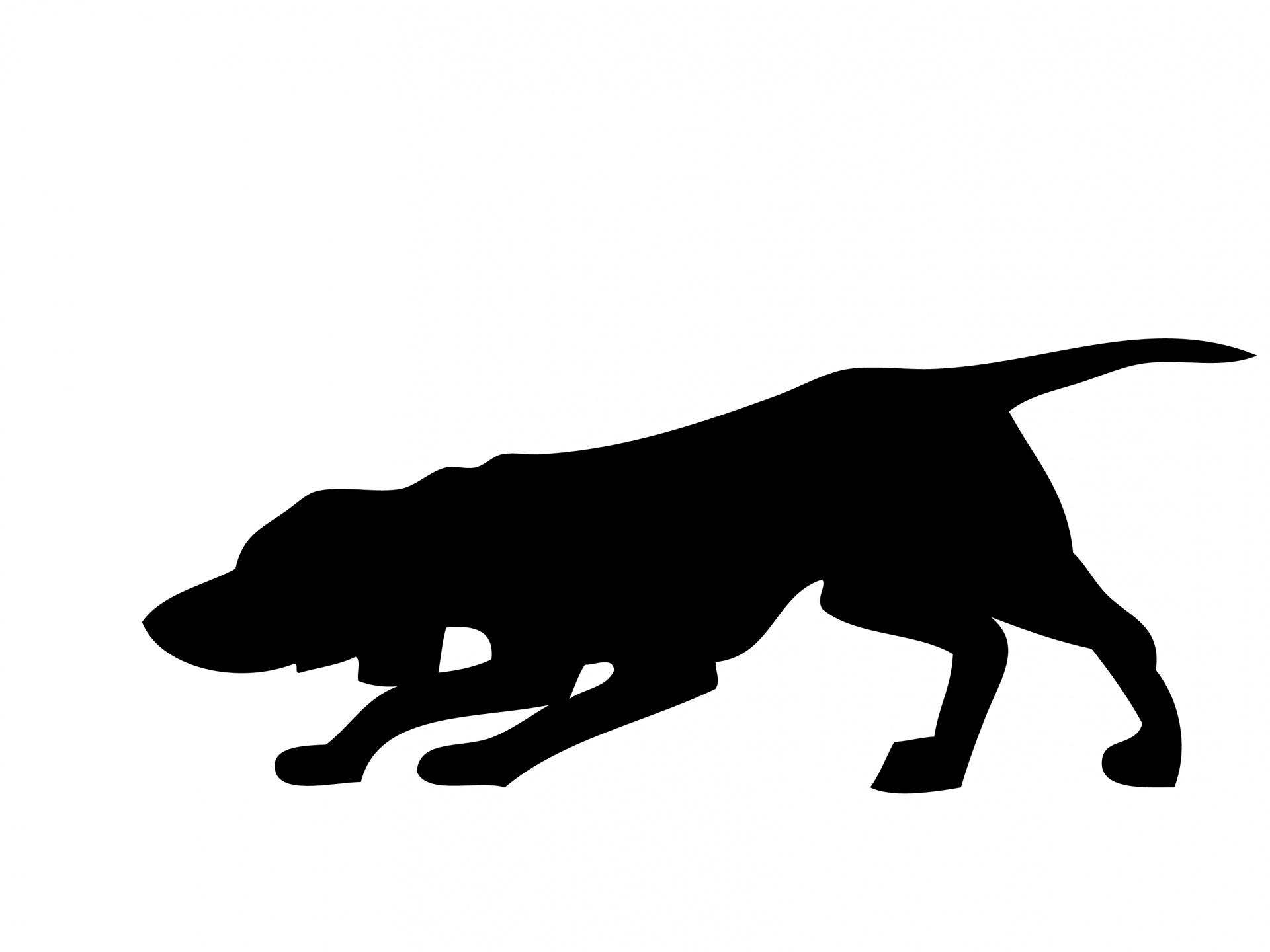 1920x1440 Dog, Hound Black Silhouette Free Stock Photo